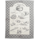 La Ribollita Black Kitchen Towel