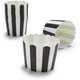 Paper Eskimo® Black and White Stripe Baking Cups, Set of 25