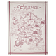 Map of France Jacquard Kitchen Towel, 30