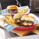 Large Red Burger Basket