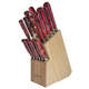 Lamson Fire Forged 16-Piece Block Set, Maple