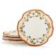 Francesca Appetizer Plates, Set of 4