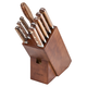 Lamson Rosewood Forged 10-Piece Block Set, Walnut
