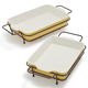 Stoneware Bakers with Bonus Racks, Set of 2