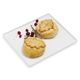 Brie En Croute Set of 2, Medium, Classic Leaf with Mushroom & Classic Leaf with Cranberry