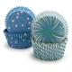 Meri Meri Toot Sweet Blue and Green Bake Cups, Set of 48