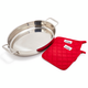 All-Clad Stainless Steel Oval Roaster with Pot Holders