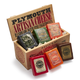 Plymouth Artisan Cheese 6-Piece Set in Vintage Wooden Gift Crate