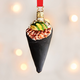 Sushi Hand Roll Glass Ornament