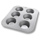 USA Pan Standard Muffin Pan, 6 Count