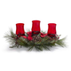 Holly & Pine Hurricane Candle Holder Centerpiece