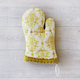 Gold Damask Vintage-Inspired Oven Mitt