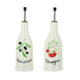 Revol Provence Oil and Vinegar Bottles, Cream, Set of 2