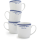 Brasserie Mugs, Set of 4