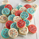 Cheryl's Frosted Patriotic Cookies, Set of 36