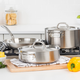 Viking Professional 5-Ply Stainless Steel 5-Piece Cookware Set