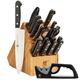 Zwilling J.A. Henckels Twin Gourmet 18-Piece Knife Block Set with Bonus Sharpener