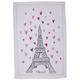 Eiffel Tower Hearts Kitchen Towel, 28