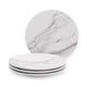 Marble Melamine Appetizer Plates, Set of 4