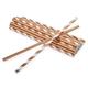 Rose Gold Paper Straws, Set of 24