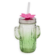 Formations Green Glass Cactus Sipper