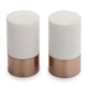 Rose Gold and Marble Salt and Pepper Shakers