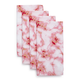 Pink Marble Napkins, Set of 4