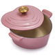 Le Creuset Rose Heart Casserole with Gold Knob, 2.25 qt.