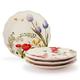 Floral Appetizer Plates, Set of 4