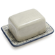 Embossed Floral Butter Dish