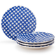 Gingham Appetizer Plates, Set of 4