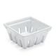 White Fruit Basket, 4.25