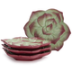 Succulent Appetizer Plates, Set of 4