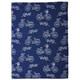 Jacquard Blue Bicycle Kitchen Towel, 28