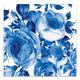 Blue Rose Paper Napkins, Set of 20