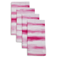 Pink Watercolor Striped Napkins, Set of 4