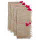 Stitch Natural Pink Napkins, Set of 4