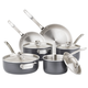 Viking Hard Anodized Stainless Steel 10-Piece Cookware Set