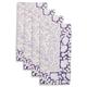 Blue Floral Block Napkins, Set of 4