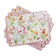 Spring Floral Cork-Backed Placemats, Set of 4