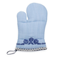 Embroidered Floral Blue Oven Mitt