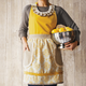 Gold Damask Vintage-Inspired Apron