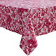 Pink Faded Floral Tablecloth