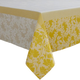 Yellow Jacquard Spring Floral Tablecloth
