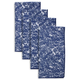 Jacquard Blue Napkins, Set of 4