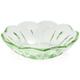 Green Glass Flower Bowl