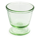 Green Glass Footed Lace Bowl