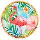 Tropical Flamingo Melamine Dinner Plate