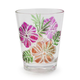 Tropical Floral Acrylic Double Old Fashioned Glasses, Set of 4