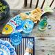 Positano Melamine Fish Platter
